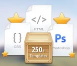 250 HTML Templates, Themes & Graphics